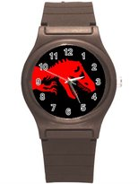 "Kidozooo Boys Girls T Rex 1 3/8"" Diameter Plastic Watch"