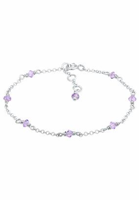 Elli Girls' 925 Sterling Silver Charm Bracelet 0203681218_14 - 14cm length