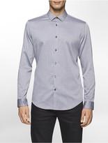 Calvin Klein Slim Fit Crepe Twill Herringbone Shirt