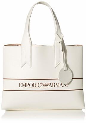 Emporio Armani Medium Logo Band Tote Bag