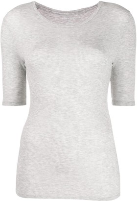 Majestic Filatures round neck ribbed T-shirt