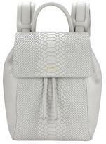 GiGi New York Personalized Phoebe Python-Embossed Leather Backpack
