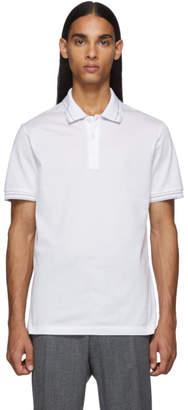 Salvatore Ferragamo White Logo Polo