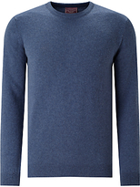 John Lewis Made In Italy Cashmere Crew Neck Jumper, Airforce Blue