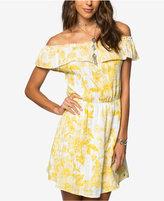 O'Neill Juniors' Cotton Printed Off-The-Shoulder Dress