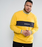Puma Plus Retro Half Zip Sweat In Yellow Exclusive To Asos 57531302