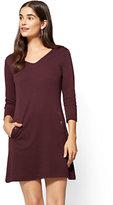 New York & Co. 3/4-Sleeve Cotton Shift Dress