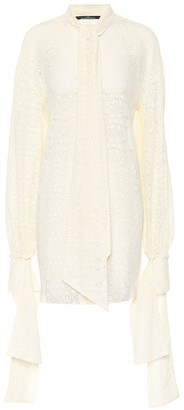 Rokh Cotton-blend lace shirt
