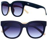 Lauren Conrad 51mm Strip Round Gradient Sunglasses
