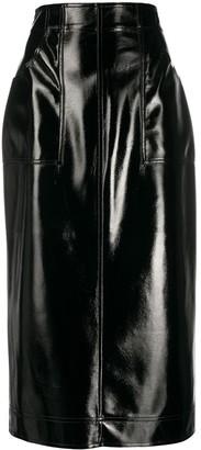 Philosophy di Lorenzo Serafini Faux-Leather Pencil Skirt