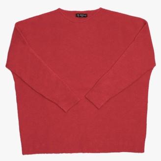 Alpini Knitwear Red Long Line Jumper
