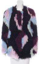 Elizabeth and James Bee Lamb Fur Jacket
