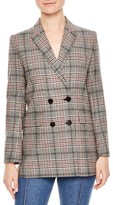 Sandro Women's Plaid Wool Blend Jacket