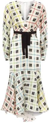 Silvia Tcherassi Silk Check Dress