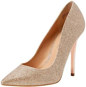 Office Women's On Tops Closed-Toe Heels, Pink (Rose Gold Lurex), 40 EU