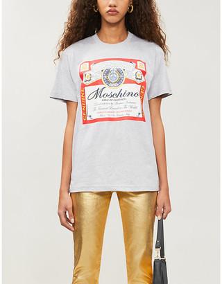 Moschino x Budweiser printed cotton-jersey T-shirt