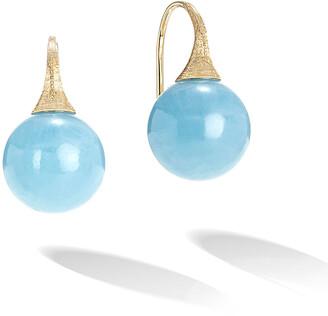 Marco Bicego 18k Africa Aquamarine Boule Drop Earrings