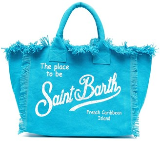 MC2 Saint Barth Logo Print Beach Bag