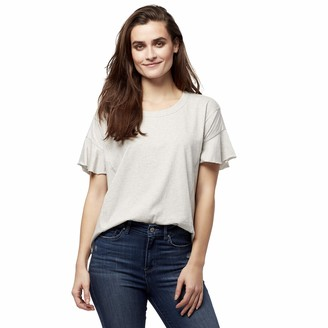 William Rast Women's Annika Flutter Short Sleeve Top