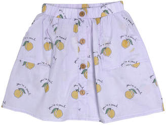 MIO Mi & O You're A Peach Button Up Skirt
