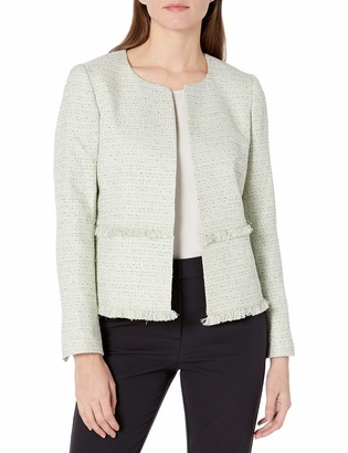 Nine West Women's Tweed Open Jacket