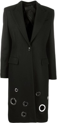 Boutique Moschino Eyelet Detail Fitted Coat