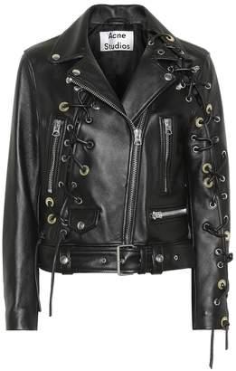 Acne Studios Embellished leather jacket