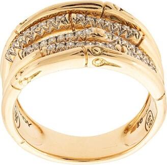 John Hardy 18kt yellow gold Bamboo diamond ring