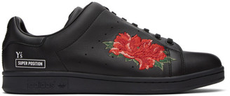 Y's Ys Black Yohji Yamamoto Edition Diagonal Stan Smith Sneakers