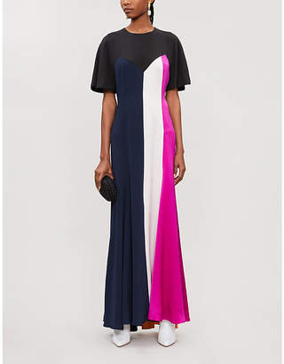 Roksanda Ilincic Emile panelled flared silk maxi dress
