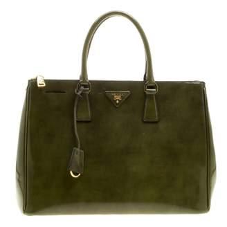 Prada saffiano Khaki Patent leather Handbags