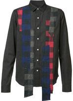Mostly Heard Rarely Seen plaid longer stripes shirt - men - Cotton - S