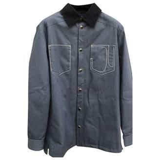 Givenchy Blue Cotton Coats