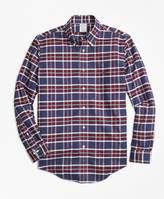 Brooks Brothers Non-Iron Regent Fit Blue Plaid Sport Shirt