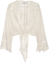 Miguelina Tama Self Tie Cropped Blouse