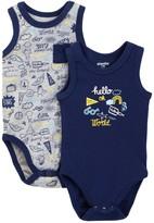 Absorba Hello World Tank Bodysuit - Pack of 2 (Baby Boys)