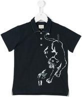 Armani Junior panther print polo shirt - kids - Cotton - 4 yrs