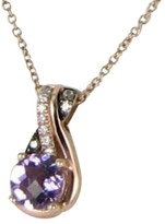 LeVian Le Vian Chocolatier 14K Rose Gold 0.62 Ct Amethyst, Chocolate and White Diamond Pendant Necklace