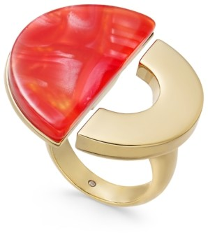 Alfani Gold-Tone & Resin Open Circle Ring, Created for Macy's
