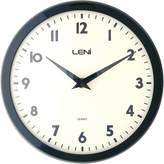 Leni Plastic School Wall Clock, 24cm, Black