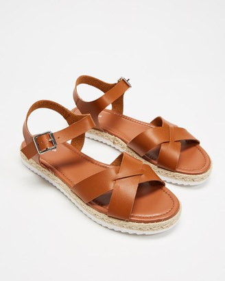 Spurr Women's Brown Flat Sandals - Merna Sandals - Size 6 at The Iconic