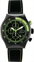 TP Men's 45 MM YELLOW Black PVD Aluminum Case Black and Yellow Dial Chronograph Tachymeter Date Watch
