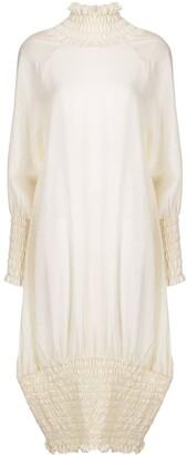 peng tai Ruched High-Neck Dress
