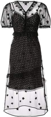 Markus Lupfer layered star-print dress