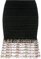 Alexander McQueen ruffled knit skirt