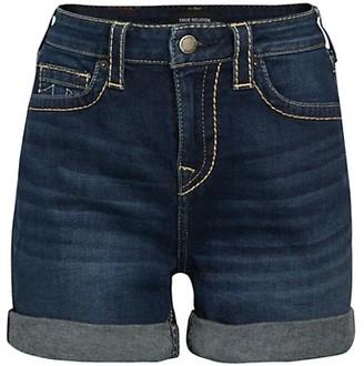 True Religion Jennie Mid-Rise Denim Shorts