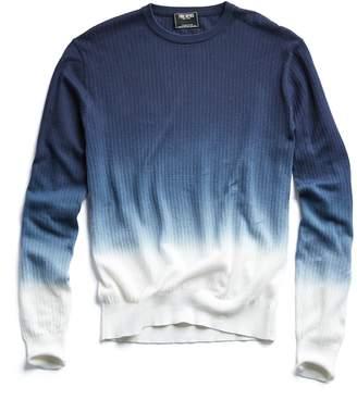 Todd Snyder Dip Dye Cotton Crewneck Sweater in Navy