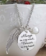 Designs By Karamarie Designs by KaraMarie Women's Necklaces silver - Imitation Pearl & Silvertone 'Forever in my Heart' Pendant Necklace