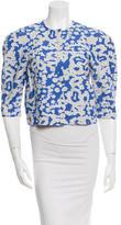 Diane von Furstenberg Patterned Cropped Jacket