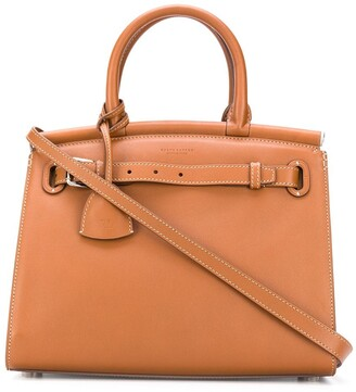 Ralph Lauren Collection Logo Top-Handle Tote